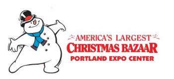 America's Largest Christmas Bazaar Portland, OR - Friday, November 29th 2013 - Sunday, December 8th 2013 24 tickets donated