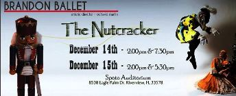 The Nutcracker Performed by Brandon Ballet Riverview, FL - Sunday, December 15th 2013 at 2:00 PM 1 ticket donated