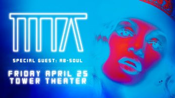 M. I. A. Plus Special Guest Ab - Soul Upper Darby, PA - Friday, April 25th 2014 at 8:00 PM 100 tickets donated