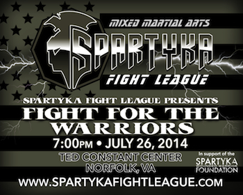 Sfl Xvi - Fight for the Warriors - Mma - General Admission - Saturday Norfolk, VA - Saturday, July 26th 2014 at 7:00 PM 500 tickets donated