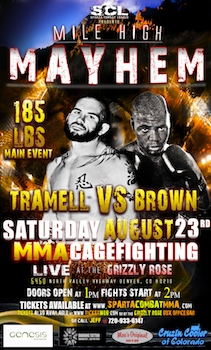 Mile High Mayhem - Mma Cage Fighting - Presented by Sparta Combat League - Saturday Denver, CO - Saturday, August 23rd 2014 at 2:00 PM 100 tickets donated