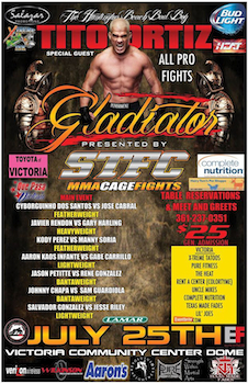 Stfc Gladiator Mma Fights - Special Guest Tito Ortiz - Friday Victoria, TX - Friday, July 25th 2014 at 7:00 PM 10 tickets donated