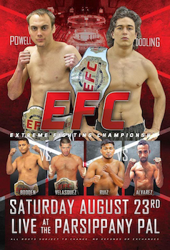 Extreme Fighting Championship - Preferred Seating - Mixed Martial Arts - Saturday Parsippany, NJ - Saturday, August 23rd 2014 at 6:00 PM 30 tickets donated