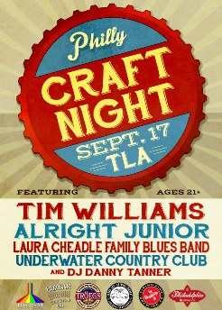 Philly Craft Night Philadelphia, PA - Wednesday, September 17th 2014 at 6:00 PM 100 tickets donated