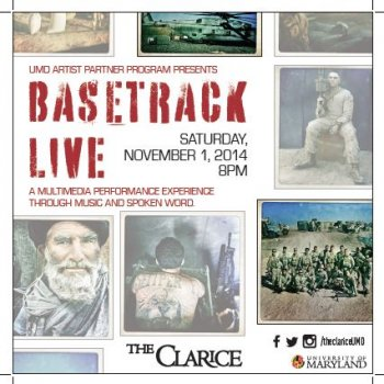 Basetrack Live - a Multimedia Performance Experience Through Music and Spoken Word College Park, MD - Saturday, November 1st 2014 at 8:00 PM 50 tickets donated