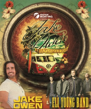 Jake Owen - Days of Gold Tour with the Cadillac Three and Eli Young Band Duluth, GA - Thursday, October 23rd 2014 at 6:00 PM 100 tickets donated