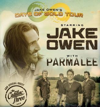 Jake Owen - Days of Gold Tour with Special Guests Parmalee and the Cadillac Three Tallahassee, FL - Friday, October 24th 2014 at 6:00 PM 100 tickets donated