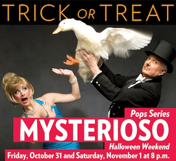 Mysterioso - a Magical Night - Presented by the Kansas City Symphony - Friday Kansas City, MO - Friday, October 31st 2014 at 8:00 PM 40 tickets donated
