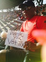 Dwayne attended Texas Rangers vs. Oakland Athletics - MLB on Jul 27th 2014 via VetTix
