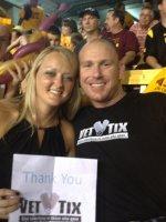 Jared attended Arizona State University Sun Devils vs. Weber State Wildcats - NCAA Football on Aug 28th 2014 via VetTix