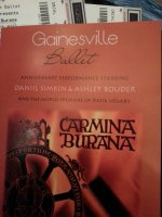 GEORGE attended Gainsville Ballet Presents Carmina Burana  on Mar 20th 2015 via VetTix