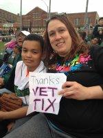 Kelli attended Dayton Dragons vs. West Michigan Whitecaps - MILB - Ada / Handicapped Seating With Companion on Apr 24th 2015 via VetTix