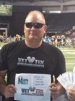 Michael attended Seattle Mist vs. Las Vegas Sin - Legends Football League - Women of the Gridiron - Saturday on Aug 1st 2015 via VetTix
