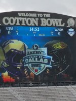James attended Zaxby's Heart of Dallas Bowl - Washington Huskies vs. Southern Miss Golden Eagles - NCAA Football on Dec 26th 2015 via VetTix