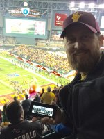 Jason attended 2016 Motel 6 Cactus Bowl - Arizona State Sun Devils vs. West Virginia Mountaineers - NCAA Football on Jan 2nd 2016 via VetTix