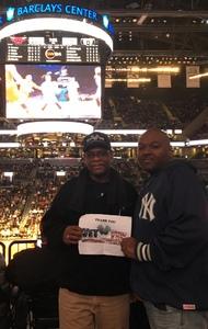 Calvin attended Brooklyn Nets vs. Chicago Bulls - NBA on Oct 31st 2016 via VetTix