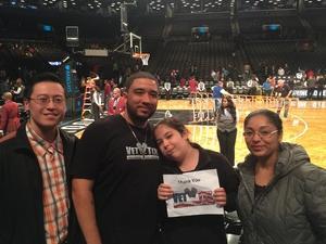 Marc attended Brooklyn Nets vs. Chicago Bulls - NBA on Oct 31st 2016 via VetTix