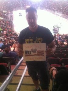 Austin attended Arizona Coyotes vs. Philadelphia Flyers - NHL - Opening Night on Oct 15th 2016 via VetTix