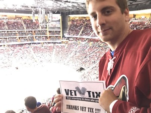 George attended Arizona Coyotes vs. Philadelphia Flyers - NHL - Opening Night on Oct 15th 2016 via VetTix