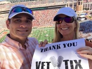 Thomas attended University of Texas Longhorns vs. Baylor - NCAA Football on Oct 29th 2016 via VetTix