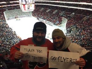 Matthew attended Philadelphia Flyers vs. Ottawa Senators - NHL on Nov 15th 2016 via VetTix