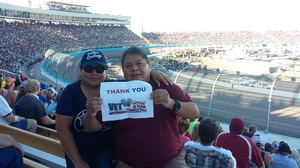 Anthony attended Can-am 500 - Nascar Sprint Cup Series - Phoenix International Raceway on Nov 13th 2016 via VetTix