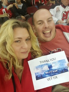 Gregory attended New Jersey Devils vs. Carolina Hurricanes - NHL - Hoops for Troops Night!! on Nov 8th 2016 via VetTix