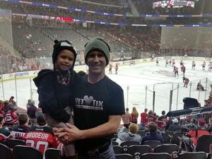 Justin attended New Jersey Devils vs. Carolina Hurricanes - NHL - Hoops for Troops Night!! on Nov 8th 2016 via VetTix