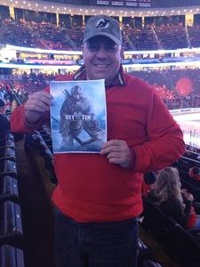 Ernesto A attended New Jersey Devils vs. Carolina Hurricanes - NHL - Hoops for Troops Night!! on Nov 8th 2016 via VetTix