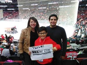 ricardo attended New Jersey Devils vs. Carolina Hurricanes - NHL - Hoops for Troops Night!! on Nov 8th 2016 via VetTix