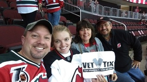 wes attended New Jersey Devils vs. Carolina Hurricanes - NHL - Hoops for Troops Night!! on Nov 8th 2016 via VetTix