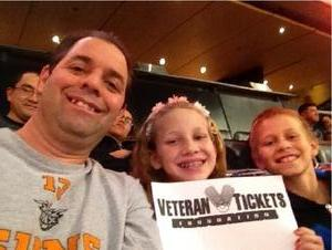 Roger attended Phoenix Suns vs. Denver Nuggets - NBA - Afternoon Game on Nov 27th 2016 via VetTix