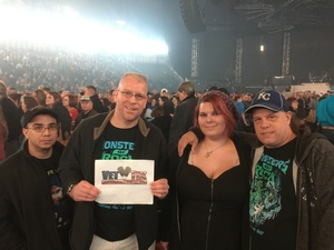 Matthew attended Trans Siberian Orchestra - the Ghosts of Christmas Eve Tour on Dec 2nd 2016 via VetTix