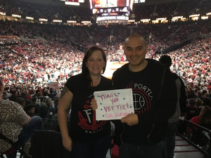 Jay attended Portland Trail Blazers vs. New Orleans Pelicans - NBA on Nov 25th 2016 via VetTix