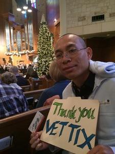 KC attended Handels Messiah - Presented by the San Antonio Symphony on Dec 4th 2016 via VetTix
