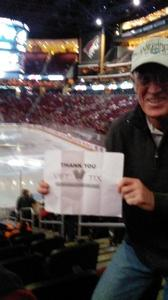 Bradley attended Arizona Coyotes vs. Calgary Flames - NHL on Dec 19th 2016 via VetTix