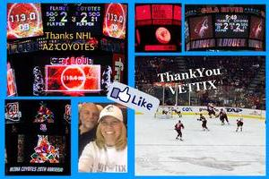 Dennis attended Arizona Coyotes vs. Calgary Flames - NHL on Dec 19th 2016 via VetTix