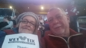 Ronald attended Arizona Coyotes vs. Calgary Flames - NHL on Dec 19th 2016 via VetTix