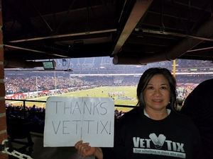 Ronald attended Motel 6 Cactus Bowl - Baylor Bears vs. Boise State Broncos - NCAA Football on Dec 27th 2016 via VetTix