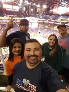 Frankie attended Phoenix Suns vs. Miami Heat - NBA on Jan 3rd 2017 via VetTix