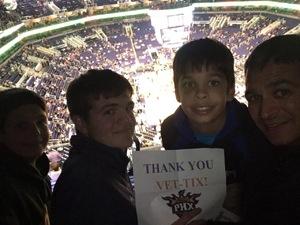 Todd attended Phoenix Suns vs. Miami Heat - NBA on Jan 3rd 2017 via VetTix