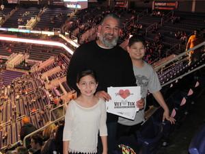 Brandon attended Phoenix Suns vs. Miami Heat - NBA on Jan 3rd 2017 via VetTix