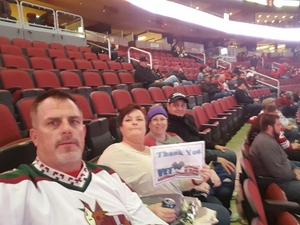 James attended Arizona Coyotes vs. New York Islanders - NHL - All Tickets in Lower Level on Jan 7th 2017 via VetTix