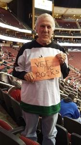 gary attended Arizona Coyotes vs. New York Islanders - NHL - All Tickets in Lower Level on Jan 7th 2017 via VetTix
