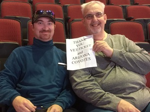 LAWRENCE attended Arizona Coyotes vs. New York Islanders - NHL - All Tickets in Lower Level on Jan 7th 2017 via VetTix