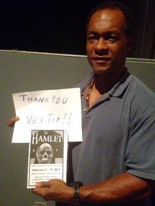 Storm attended Hamlet by New Moon Theatre Company - Saturday on Feb 18th 2017 via VetTix