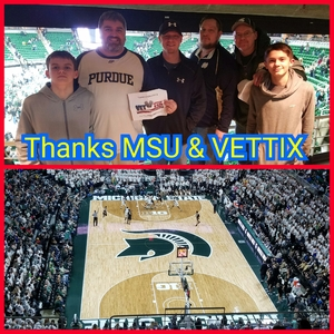 Adam attended Michigan State Spartans vs. Purdue - NCAA Men's Basketball on Jan 24th 2017 via VetTix