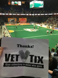 Scott attended New England Black Wolves - Buffalo Bandits - Military Appreciation Night - National Lacrosse League on Feb 19th 2017 via VetTix