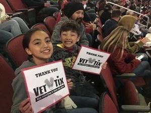 Caryanne attended Arizona Coyotes vs. Vancouver Canucks - NHL - Lower Level Tickets on Jan 26th 2017 via VetTix