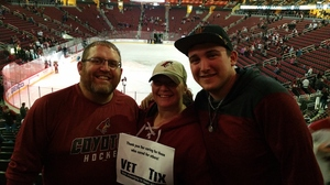 Brian attended Arizona Coyotes vs. Vancouver Canucks - NHL - Lower Level Tickets on Jan 26th 2017 via VetTix